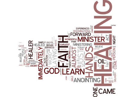 YOU CAN BE A FAITH HEALER Text Background Word Cloud Concept