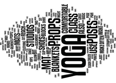 YOGA PROPS Text Background Word Cloud Concept