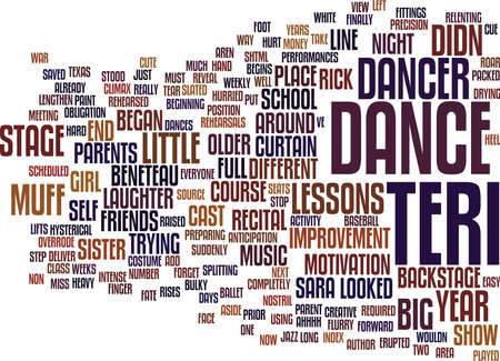 THE MUFFED DANCE Text Background Word Cloud Concept