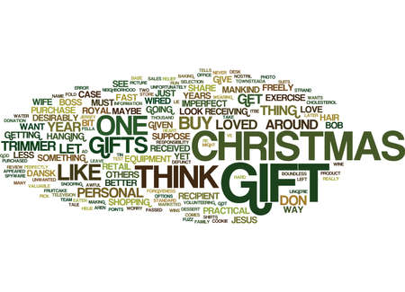 THE PERFECT CHRISTMAS GIFT Text Background Word Cloud Concept 向量圖像