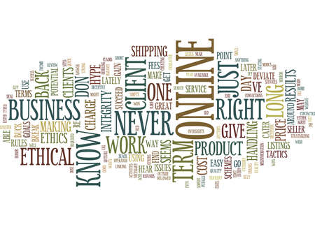 YOU KNOW YOU RE TOO ETHICAL WHEN Text Background Word Cloud Concept