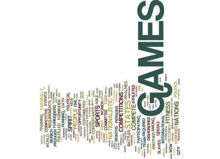 LA POLITICA DEGLI OLYMPICS GAMES Text Background Word Cloud Concept