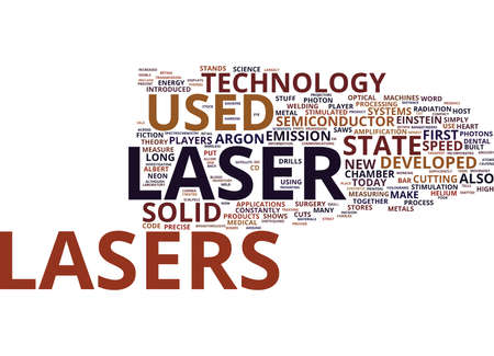 argon: THE INNUMEROUS BENEFITS OF LASER TECHNOLOGY Text Background Word Cloud Concept Illustration