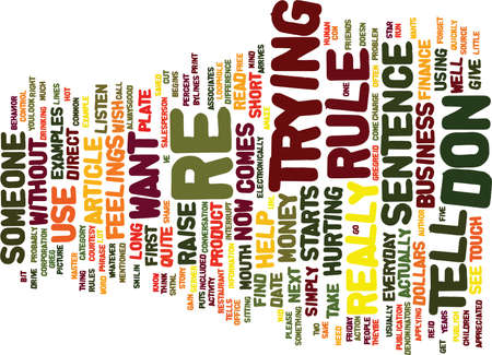 ve: THE PERCENT RULE Text Background Word Cloud Concept
