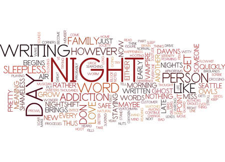 THE NIGHTSHIFT Text Background Word Cloud Concept Illustration