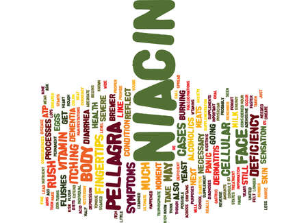 colon: THE NIACIN RUSH Text Background Word Cloud Concept
