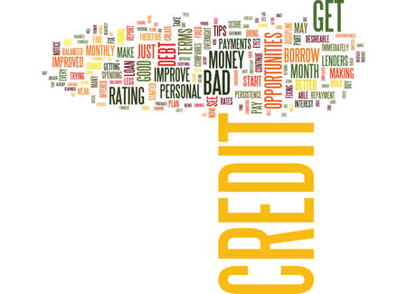 YOU CAN FIX YOUR BAD OR POOR CREDIT Text Background Word Cloud Concept Stock Vector - 82595162
