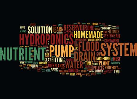 最も簡単な自家製水耕栽培システム テキスト背景単語クラウド コンセプト