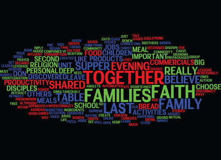 THE LAST SUPPER Text Background Word Cloud Concept Ilustracja