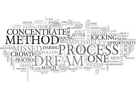 sitter: THE IMPOSSIBLE DREAM Text Background Word Cloud Concept Illustration