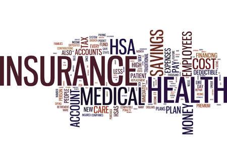 의료 보험 비용을 낮추는 새로운 방법 텍스트 배경 단어 구름 개념 일러스트