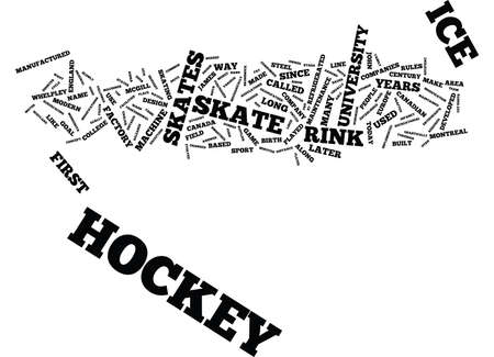 named person: THE ORIGIN OF ICE HOCKEY Text Background Word Cloud Concept Illustration