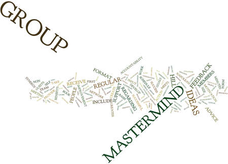 THE POWER OF THE MASTERMIND Text Background Word Cloud Concept
