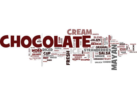 THE ORIGINAL CHOCOLATE Text Background Word Cloud Concept
