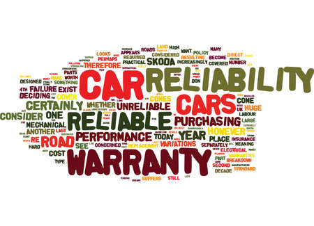 THE MOST AND LEAST RELIABLE CARS HOW RELIABLE IS YOUR CAR Text Background Word Cloud Concept