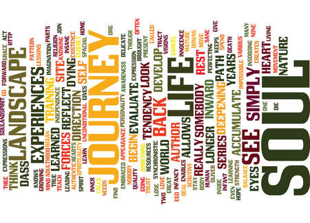 THE LANDSCAPE OF THE SOUL Text Background Word Cloud Concept