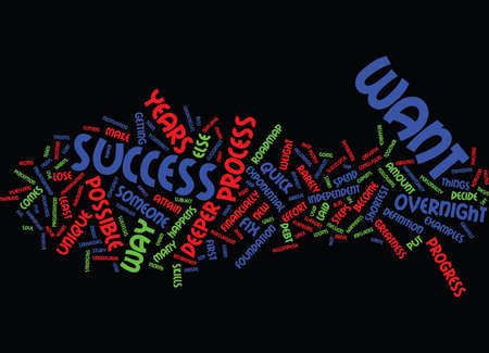 THE PROCESS NOT THE QUICK FIX Text Background Word Cloud Concept