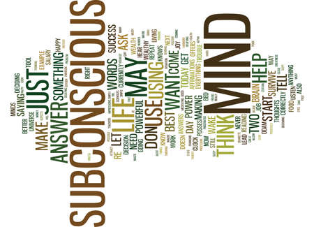 THE POWER OF YOUR SUBCONSCIOUS MIND Text Background Word Cloud Concept Stock Vector - 82593466