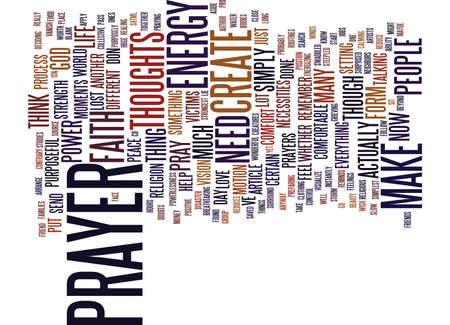 THE INCREDIBLE POWER OF PRAYER Text Background Word Cloud Concept