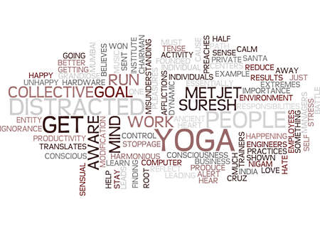 YOGA FOR BUSINESS PEOPLE DO NOT GET DISTRACTED FROM YOUR GOAL Text Background Word Cloud Concept Illusztráció