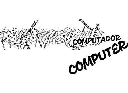 THE PAST AND PRESENT OF COMPUTERS Text Background Word Cloud Concept