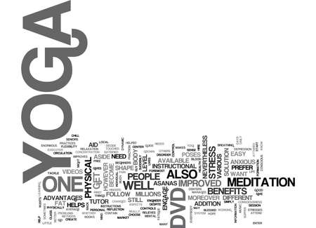 YOGA DVD Text Background Word Cloud Concept