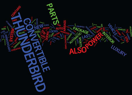 thunderbird: YEARS OF POWER Text Background Word Cloud Concept Illustration