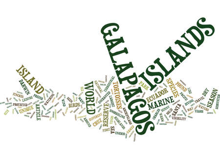 HET EXOTISCHE GALAPAGOS-EILANDEN Tekst Achtergrondword Wolkenconcept