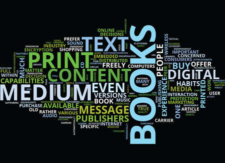 THE MEDIUM AND THE MESSAGE Text Background Word Cloud Concept