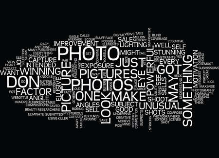 THE MYSTERIOUS POWERFUL ELEMENT OF A PICTURE THAT SELLS Text Background Word Cloud Concept