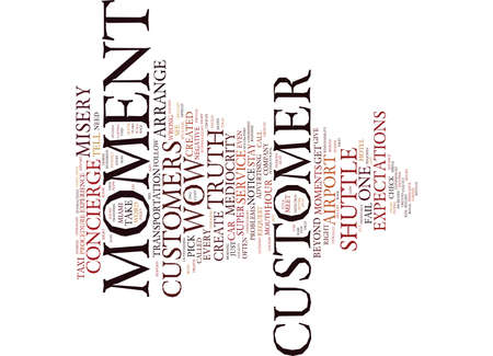 THE MOMENT OF TRUTH Text Background Word Cloud Concept