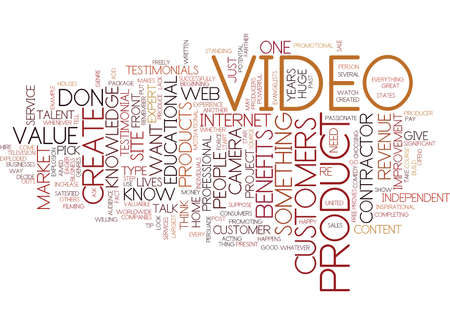 YOU DONT NEED TO BE A PRO TO CREATE POWERFUL VIDEO PRODUCTS Text Background Word Cloud Concept