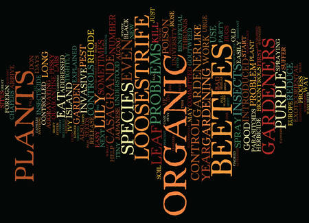 THE ORGANIC GARDENER Text Background Word Cloud Concept