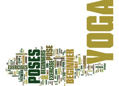初心者のためのヨガ ヨガ テキスト背景単語雲概念にそれらの最初のステップを取る方法