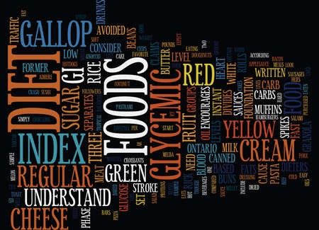 glycemic: THE LOW CARB GLYCEMIC INDEX DIET Text Background Word Cloud Concept