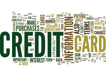 クレジット カードのテキスト背景単語雲の概念に適用するには、最も効果的な方法