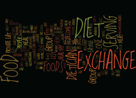 THE EXCHANGE DIET Text Background Word Cloud Concept