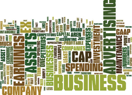 THE IMPORTANCE OF MAINTENANCE CAP EX Text Background Word Cloud Concept Illustration
