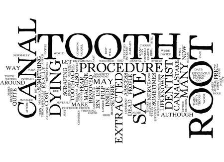 THE DREADED ROOT CANAL Text Background Word Cloud Concept
