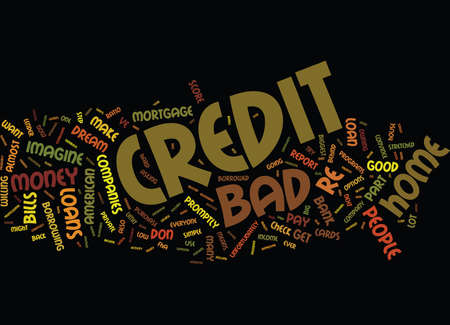 THE INS AND OUTS OF BAD CREDIT HOME LOANS Text Background Word Cloud Concept