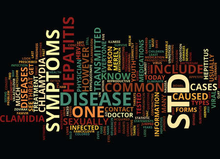 THE IN AND OUT OF STD S Text Background Word Cloud Concept