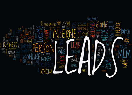 THE INSIDER S VIEW INTO THE MLM OPT IN LEADS INDUSTRY Text Background Word Cloud Concept Illusztráció
