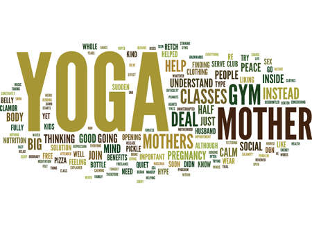 YOGA FOR MOTHERS Text Background Word Cloud Concept