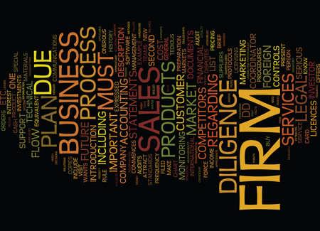 LE PROCESSUS DE DILIGENCE RAISONNABLE Texte Contexte Concept de nuage de mots