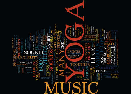 YOGA MUSIC Text Background Word Cloud Concept
