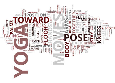 YOGA MOVES Text Background Word Cloud Concept