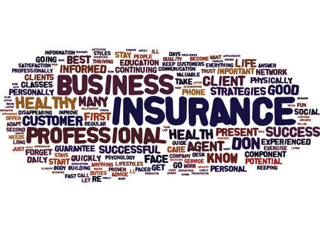 THE INSURANCE AGENT S GUIDE TO SUCCESS Text Background Word Cloud Concept