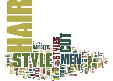 THE LATEST TRENDS IN MENS HAIRSTYLES Text Background Word Cloud Concept