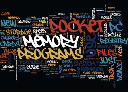 THE ESSENTIAL GUIDE TO POCKET PC Text Background Word Cloud Concept 向量圖像