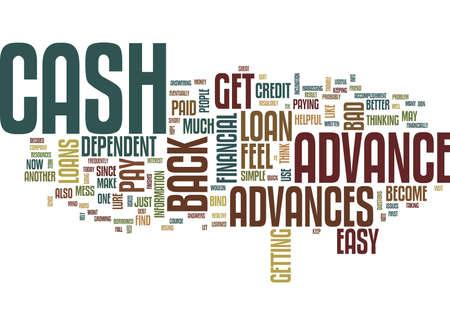 THE LURE OF CASH ADVANCES Text Background Word Cloud Concept